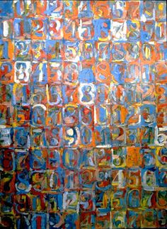 Jasper Johns  --  this painting gives you a buzz if looked at properly