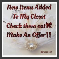 Check Out New Items Added  Updated my closet check it out I appreciate it don't forget to make offers I accept reasonable offers so don't forget to ask!!!! Other