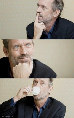 Hugh Laurie, I find him handsome for his age.