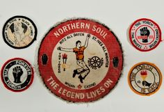 Northern soul badges. Possibly 1970s.