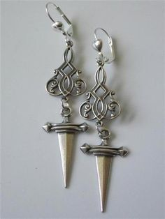 celtic sword earrings