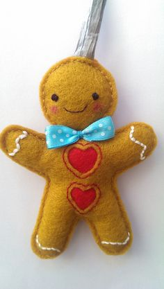 gingerbread man christmas decoration by whisperofthepipit on etsy 458