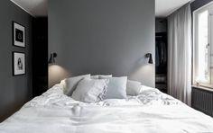 Bedroom in dark grey - via Coco Lapine Design
