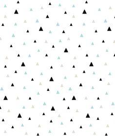 Este papel pintado estampado con motivos geométricos de triángulos negros y mint sobre un fondo blanco es perfecto para crear un dormitorio infantil de lo más cool. El papel pintado más original y moderno ya está aquí! Las formas limpias y sencillas so