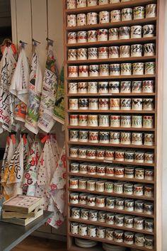 Emma Bridgewater mugs and teatowels coffee mugs & tea mugs www.nl Inspiration for Chive pots and Kate red barn shelf Pin mini garden flags in rows Emma Bridgewater Pottery, Mug Display, Mug Holder, Studio Room, Coffee Mugs, Tea Mugs, Stoke On Trent, Starbucks Mugs, Displaying Collections