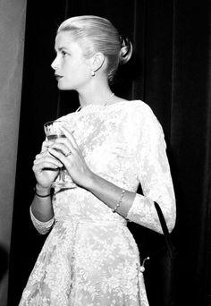 Grace Kelly in Cannes, 1955.