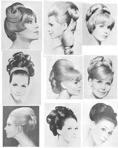 Sixties collection 9 retro hair especially sixties in 2019 п 1960 Hairstyles, Vintage Hairstyles, 1960s Hair, Sixties Hair, Makeup Life Hacks, High Hair, Vintage Waves, Glamour Makeup, Pin Up Hair
