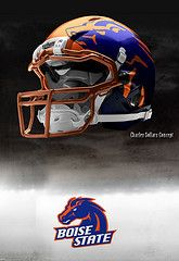 Boise State helmets, hypothetical, but still awesome.