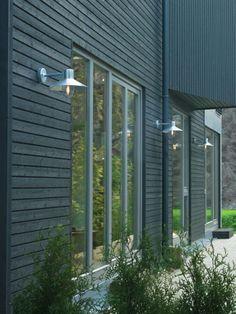 Norlys Lund Outdoor Wall Light - Galvanised Steel from Lighting Direct. Barn Lighting, Outdoor Wall Lighting, Outdoor Walls, Lighting Design, Exterior Wall Light, Exterior Lighting, Lund, Light Brick, Direct Lighting