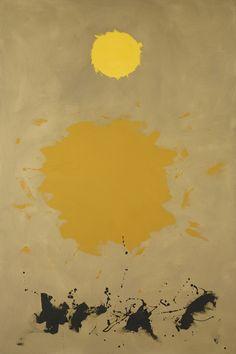 Adolph Gottlieb (American, 1903-1974), Drift, 1961. Oil on canvas, 72 x 48 in.