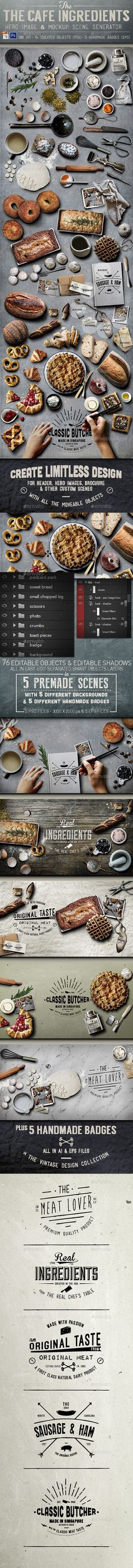 Cafe Ingredients Hero Image #design Download: http://graphicriver.net/item/cafe-ingredients-hero-image/11781215?ref=ksioks