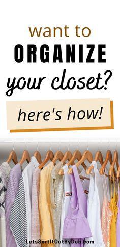 Organisation Hacks, Closet Organization, Organising Hacks, Organizing, Bedroom Closet Storage, Bedroom Closets, House Cleaning Tips, Cleaning Hacks, Affordable Storage