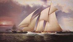 J Class Yacht Rainbow and Velsheda Sailboat Models, Atlantic Schooner Ship Model Nautical Wall Decor, Nautical Art, Spirit Yachts, Ranger, Classic Sailing, Fine Art Prints, Canvas Prints, Creative Art, Blog