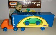 "#RareLittleTikes ""PLAY TRANSPORTER"" #Semi Car Carrier That Transforms To Bridge #LittleTikes #80s"