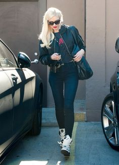 Gwen Stefani Runs Errands in High Tops