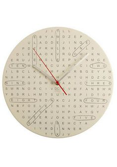 Calling all word search peeps! This is an awesome #DIY clock.