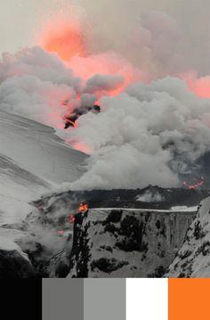 {Color Palette} Neon Volcano