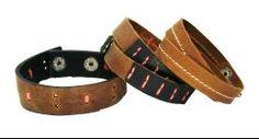 Sakhi Styles Men's Genuine Leather Bracelet Combo Pack of 3 pcs_148