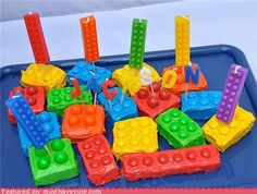 EASY Lego cakes with M