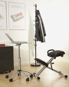 Malcolm Laptop Stand, Harold Knee Chair