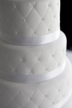 wedding cake with edible sugar diamonds