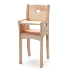 wood doll highchair - Made in USA