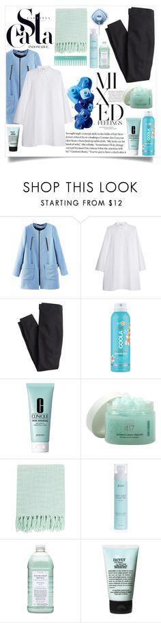 """Mixed feelings"" by sfspvizza ❤ liked on Polyvore featuring OPI, Giambattista Valli, J.Crew, COOLA Suncare, Clinique, Minus 417, Surya, Williams-Sonoma and philosophy"