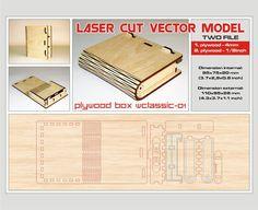 Laser cut vector model. Instant download. Wooden small box.