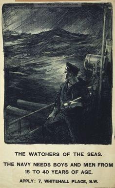 WWI British Navy Recruiting Poster