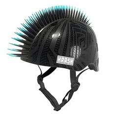 "The Krash Black Gator helmet with 3D blue accent tip mohawk is made for the cool kid on the block. The subtle black gloss on black matte helmet give the helmet an aged up feel that says, ""I'm not a little kid anymore!"" The youth size helmet fits kids 8-13 years old (54-58 centimeter).<br><br>The Raskullz Krash Black Boys Youth Gator Helmet Features:<br><ul><li>3D mohawk</li><br><li>Black matte helmet</li><br><li>Fits kids 8-13 years old</li><br><li>CPSC and ASTM certified</li></ul>"