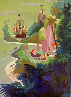 """John Hench and Al Dempster, Walt Disney's Peter Pan From The Motion Picture """"Peter Pan"""", A Big Golden Book, Golden Press New York 1952"""