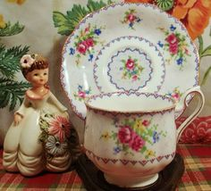 Vintage cup and saucer royal albert petit by MaribelsVintageStuff, $19.99