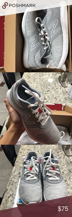 New Balance Grey Shoes Like new . Only wore once . Memory foam inside . 6.5 in women's . New Balance Shoes Athletic Shoes