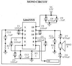 LA4555 Audio Amplifier Mono Circuit