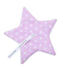 Schnullertuch rosa mit weißen Sternen