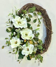 Easter Wreaths, Holiday Wreaths, Magnolia Wreath, Wedding Wreaths, Noel Christmas, Christmas Decor, Summer Wreath, Spring Wreaths, Deco Mesh Wreaths