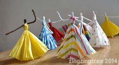 Pipe cleaner and tissue paper dancers/princesses - maybe more costume studio?