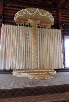 Custom made wedding stage.  We always coming up with new ideas at N&N Rentals - Linen Rentals & Event Decor.