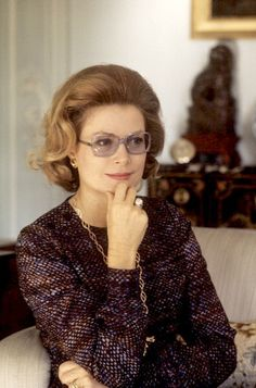 Princess Grace of Monaco in the salon of her apartment in Paris, photo by Jean-Claude Deutsch, December 1972 | Flickr - Photo Sharing!