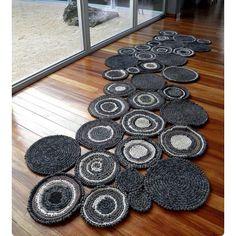 rag rug asymmetric circles
