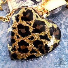 MEOW  Gold Leopard Print Necklace by runningwithscissorss on Etsy, $25.00