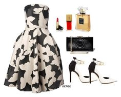 """""""BLACK ... & WHITE . GREAT !"""" by betty-sanga ❤ liked on Polyvore featuring Lanvin, Salvatore Ferragamo, Gucci, GUESS, Yves Saint Laurent and Chanel"""
