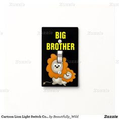 Cartoon Lion Light Switch Cover