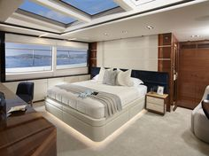 _Kohuba_, the first Princess yacht, is a study in refined masculinity, with its dark wood interior, outdoor cinema and penthouse-like main deck master Princess Yachts, Spaceship Interior, Yacht Interior, Luxury Rooms, Black Aesthetic Wallpaper, Yacht Design, Space Architecture, Luxury Yachts, Living Room Designs