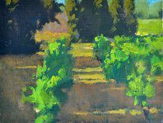 "The Vineyard - Oil on canvas, 10"" x 12"""
