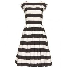 Dolce & Gabbana Striped Dress ($885) ❤ liked on Polyvore