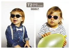 Inspired by adult eyewear and completely covers the eye. Suitable for 12 months and older