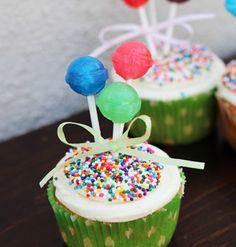 Lollipops & Sprinkles Kids Birthday Cupcakes Picture