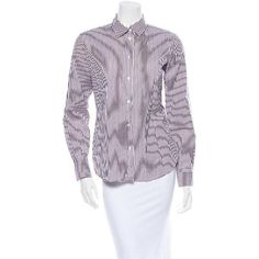 evaChic |  This Loro Piana Oxford Striped Silk Shirt is ideal for stylish androgynous or corporate looks, as well as for laidback outfits as a top that is half-tucked into cut-off denim bottoms. Crafted from pure silk and embracing the eye-catching shirting motif, it will create sharp and chic combinations of luxe separates. http://www.evachic.com/product/loro-piana-oxford-striped-silk-shirt/
