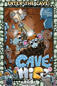 Appicus UG (haftungsbeschraenkt) | Games | iPhone | Cave Mice $0.00 | ver.1.0.1| $0.99 | Cave Mice is FREE until January 7.Navigate mouse Theseus Tilsit on his dangerous mission into an abyss to retrieve cheese rations which his family ...